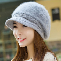 Visor Casual others Wholesale-hot sale populare winter women cheap warm touca wholesale knitten female cap 2015 lady new design cheap fast delivery hat