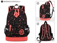 Wholesale College Korean Backpack - The Korean version of the new tide female BAG canvas cartoon round students college wind women's computer backpack