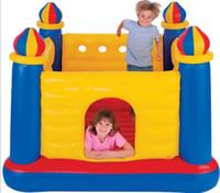 diversión inflable al por mayor-Material de la lona del PVC y castillo tipo inflable comercial castillo inflable castillo de salto inflable para los niños juguete al aire libre de la diversión