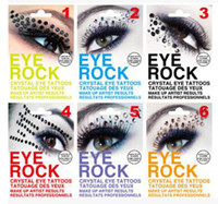 Wholesale Eye Liner Stickers - Fashion Colourful Body Art Party Eye Liner Tattoo Stickers Eye Rock Crystal Eye Shadow Sticker 2015(210022)