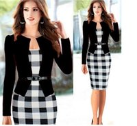 Wholesale Tight Small Dress - Europe and the United States sell small hip skirt suit off two pack Lattice tight skirt waist and buttock Turkey big yards dress