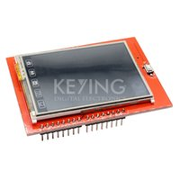 Wholesale Tft Lcd Touch Sd Arduino - Wholesale-Touch Panel 2.4 inch TFT LCD Shield Module TF Reader Micro SD For Arduino Uno Megas Free Shipping