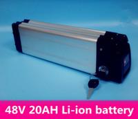 48v elektrische fahrradbatterie geben verschiffen frei großhandel-Freie elektrische Fahrradbatterie des Verschiffens 48v 1000W silberner Fisch des elektrischen Fahrrades des Lithiums mit Batterie 48v 20Ah und BMS, Aufladeeinheit 54.6 V 2A