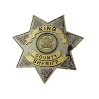 Wholesale Pins Movie - Movie Jewelry Trendy The Walking Dead Uniform Star King County Sheriff Grimes zinc Alloy Badge Brooch