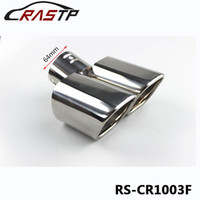 Wholesale tail pipes - RASTP -Inlet 64MM Universal Exhaust Pipe Tail End Pipe Rear Exhaust Muffler Double Outlet RS-CR1003F