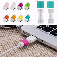 elma veri tel toptan satış-USB Veri Şarj Kablosu Tasarrufu Protecter iPhone 7 6 artı 5se ipad USB Kabloları Şarj Tak Tel Kordon Koruyucu kapak
