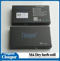 Wholesale Dual Atomizers - 2016 Cloupor Cloutank M3 M4 Dry Herb Wax Coil Head Fit M3 M4 Atomizer VS KANGER VOCC OCC DUAL COIL Ijust 2 Coil
