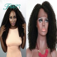 Wholesale Human Lace Front Wigs Wholesale - New 2016 Fashion Peruvian Kinky Curly Wig Hottest Human Hair Full Lace Wig For Black Women Cheap Glueless Lace Wigs Factory Price