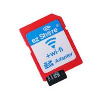 Wholesale Microsd Tf Adapter - ezshare EZ share micro sd adapter wifi wireless 16G 32G memory card TF MicroSD adapter WiFi SD card