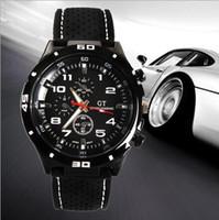 gt silikon quarzuhr großhandel-2017 Mode GT Uhr Grand Touring F1 Männer sportuhr luxurysport mann military uhren Silikonband Quarz Armbanduhr armband heiß