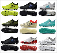 Wholesale Football Boots Free Shipping - cheap 2017 mens adidas X 17.1 FG soccer shoes football boots lows men soccer cleats turf futsal Free shipping