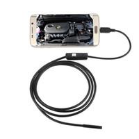 ingrosso specchio dell'endoscopio-2M / 7 millimetri di messa a fuoco Camera Lens Cavo USB impermeabile 6 LED per Android endoscopio 1/9