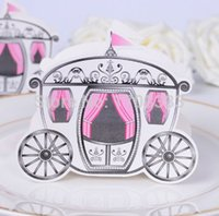 Wholesale Cinderella Carriage Candy Boxes - Wholesale Cinderella Enchanted Carriage Marriage Box Wedding Favor Gift boxes Candy box Free Shipping