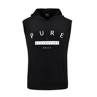 Wholesale Mens Fashion Cotton Tank Tops - Wholesale-2016 summer new brand clothing mens gym clothing tank top bodybuilding blusa masculina fitness men fashion hooded tee tops S-2XL
