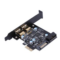 Super Speed ​​USB 3.0 PCI-E carte d'extension PCI Express de 2 ports Connecteur d'alimentation 19 broches pour PC de bureau PC