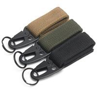 sırt çantası askeri molle taktik toptan satış-1 adet Açık Kamp Taktik Karabina Sırt Kanca Olekranon Molle Kanca Survival Dişli EDC Askeri Naylon Anahtarlık Toka