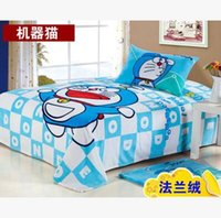 Wholesale Cartoon Print Fleece Blanket - Hot Sale Doraemon Printed Blanket for Adult kids Gift Cartoon Soft Warm Coral Fleece Throw Blankets Bed Sheet 150*200cm
