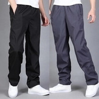 Wholesale Men Wear Hair - Winter long hair plus cashmere trousers men polyester wear-resistant sports trousers loose casual quick-drying pants