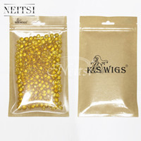 Wholesale Keratin Glue Tip Hair Extensions - Neitsi 400pcs Blonde# High Purity Fusion Glue for Hair Extensions Keratin Glue Grainsair Fusion Keratin Glue Tips Rebond Granules Beads
