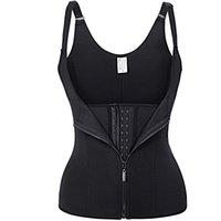 Wholesale shape up sauna - Hot Body Shapes Black Neoprene Sauna Sweat Vest Waist Trainer Slimming Trimmer Corset Workout Thermo Push Up Shapewear