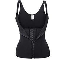 ingrosso corpo che modella gilet-Hot Body Shapes Neoprene Nero Sauna Sweat Vest Vita trainer Dimagrante Trimmer Corsetto Allenamento Thermo Push Up Shapewear