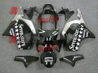 carenagens pretas cbr954rr venda por atacado-2014 Hot Black INJEÇÃO Fairing Bodywork Kit Fit CBR900RR CBR954RR 2002-2003 082.