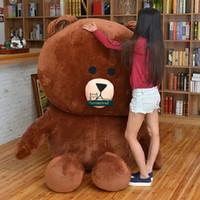 Wholesale Toys Bear Biggest - Dorimytrader 79''   200cm Jumbo Cartoon Anime Plush Soft Biggest Lifesize Bear Brown Toy Nice Present Free Shipping DY60611