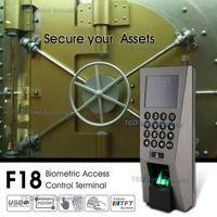 leitor de impressões digitais usb venda por atacado-ZKTeco F18 Sistema de reconhecimento de comparecimento do tempo de controle de acesso ZKAccess3.5 Sistema de segurança do varredor de impressão digital de USB com SDK