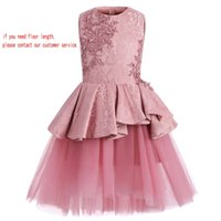Wholesale Cute Lovely Baby Images - Applique Crystal Jewel Sleeveless Hi-Lo Beautiful Flower Girl Dresses Lovely Baby Dresses Cute Kids Formal Wear