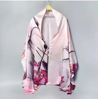 Wholesale Satin Crepe Shawl - Heavy Silk Shawl 100% Mulberry Double Layer Double-sided Crepe Satin Round Button Shawl Thick Spring and Autumn