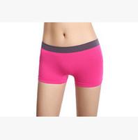 yeni modal kız toptan satış-Kadınlar için toptan 2016 Giysileri Yeni Kadın Seksi Iç Çamaşırı Kız Boxer Şort Külot Intimates Elastik Giysi Modal Şort Üc ...