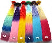 Wholesale Stick I Tip Wholesale - 2016 New Fashion Ombre I tip Hair Colorful Stick Hair Colored Feather Hair Extensions for Women 120pcs Lot