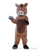 Wholesale Boar Mascot - SX0728 Good vision and good Ventilation a brown boar mascot costume with big nose for adult to wear