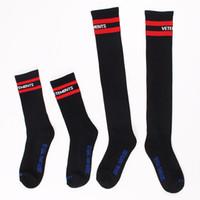 Wholesale Elastic Shoes - Jmoon Women Stockings Socks Vetements Letters Knitted Cotton Shoe Hosiery Unisex Mid-calf Length Socks Good Elastic Size 37-44 Black   White