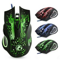 Professionale Wired Gaming Mouse ottico USB Mouse 5000dpi Cavo mouse Gamer Mouse 6 Pulsanti Ratones PC per CS andare X9