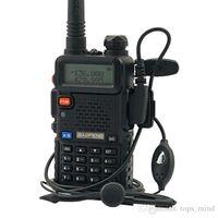 Wholesale Earpieces Vhf Radio - Hot Baofeng UV-5R VHF UHF 136-174 400-520 MHz Dual-Band FM Ham Two-way Radio Walkie Talkie Intercom + Earpiece