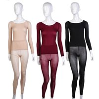 Wholesale Tight Fitting Underwear - Wholesale-Women Seamless Body Shaping Winter Warm Long Underwear Set Tight-Fitting New Hot Selling