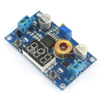 Wholesale Dc Adjustable - 5 PCS LOT 75W Adjustable Voltage Regulator Adapter DC 4.0 ~ 38V to 1.25V ~ 36V 5A Buck Converter  Driver Module + Voltmeter