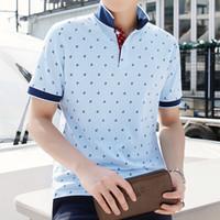 Wholesale Summer Slim Polo Shirt - Summer Fashion Mens Short Polo Shirt Brand England style Plus Size M-4XL Cotton Shirt Men Slim Fit Brand Clothing Black Solid Polo Shirt