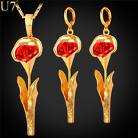 Wholesale Glory Days - unique Gold Morning Glory Flower Women Jewelry Set For Gift Wholesale Gold Platinum Plated Party Vintage Earring Necklace Set S810