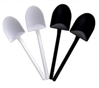 Wholesale 12 cm The new black and white design essential household disposable plastic ice cream scoop ice cream scoop ice cream scoop shovel