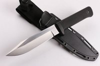 Wholesale outdoors survival knives resale online - Cold Steel SRK Survival Straight Knife Cr18Mov Drop Point Satin Blade Kraton Handle Outdoor Survival Camping knives
