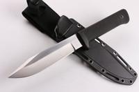 hayatta kalma düz bıçak toptan satış-Soğuk Çelik SRK Survival Düz Bıçak 9Cr18Mov Damlama Noktası Saten Blade Kraton Açık Survival Kamp bıçak Kulp
