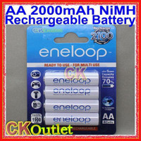 Wholesale Sanyo Aa - 2016 100% Original 2000mAh AA Fourth Generation Rechargeable Battery upto 2100 Times BK-3MCCE 4 4 Pcs For SANYO w Free Gift New