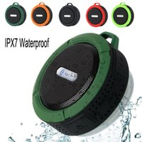 Wholesale bluetooth speaker for ipad mini - Bluetooth Speaker Wireless C6 IPX7 Outdoor Sports Shower Portable Waterproof Suction Cup Handsfree TF MIC Voice Box For iPhone iPad Android