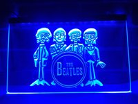 LF167b- The Beatles Drum Band Bar Neon Light Sign.LED Light Sign