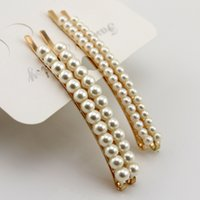 Wholesale Copper Hair Pins - rhinestones pearl clip hair accessories for women hair pins for weddings