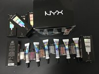 Wholesale Cream Color Eyeshadow - EPACK Arrived NYX Glitter Primer Cream Concealer Cream NYX Glitter Face and Body Shimmer Powder 6 color Eyeshadow Powder 25G