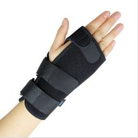 Wholesale Elbow Sprain - DHL Free Shipping~ Wrist Sprain Injury Recovery With Plate Fixed Hand Wrist Support Protector Wraps Sports Safety M L