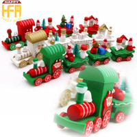 Wholesale Ornaments For Christmas Make - Christmas Ornaments Hand Made Wooden Mini Train Mixed Color For Kids Gift Merry Christmas Festival Decorations
